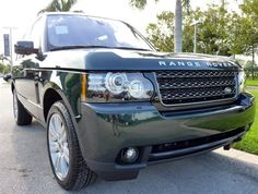 2012 Land Rover Range Rover in Aintree Green http://www.landroverpalmbeach.com/