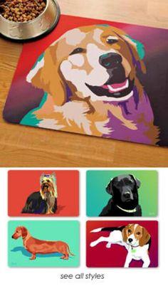 Personalized dog mat