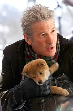 Hachi: A Dog's Tale, Richard Gere If Hachi: A Dog's Tale , about the bond between a professor (Richard Gere) and a lost Akita puppy, doesn't get you weepy, nothing will. See what else made EW's list of the best movies you've never seen and start renting Sad Movies, Great Movies, I Movie, Movie Stars, Richard Gere, Akita Puppies, Akita Dog, Dogs And Puppies, Beau Film