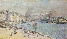 1874 Claude Monet View of the old outer harbor at Le Havre(Philadelphia Museum of Art)(60 x 102 cm)