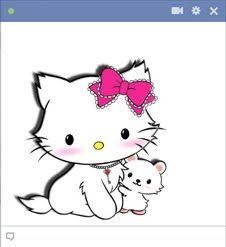 Here's a Cute Kitty for all your cute loving friends! Add this gorgeous emoticon on Facebook.