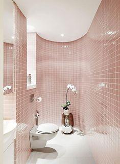 Decorazioni a mosaico - Rivestimento bagno rosa | Bathroom designs ...
