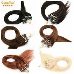 "83.45$  Buy now - http://alie22.worldwells.pw/go.php?t=32728353673 - ""Originea Micro Loop Ring Hair Extensions Brazilian Virgin Hair Straight 18"""" 20"""" 22"""" 50g Micro Loop Ring Human Hair Extensions"" 83.45$"