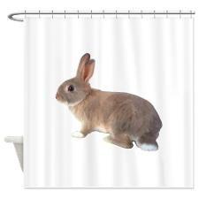 Fluffy Bunny Shower Curtain