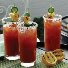 Barbecued Bloody Mary...moderate alcohol+antioxidants=winning!