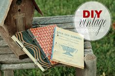 Recycling Books - DIY Vintage Notebooks