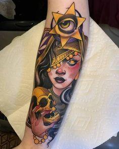 New post on tattinitup Traditional Tattoo Sketches, Neo Traditional Tattoo, Tattoo Blog, I Tattoo, Tattoo Girls, Girl Tattoos, New Tattoos, Body Art Tattoos, Handpoked Tattoo