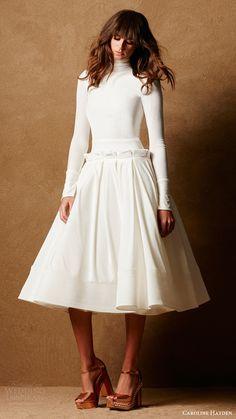 CAROLINE HAYDEN bridal 2017 long sleeves high neck short wedding dress (ch007 a ivory) mv #bridal #wedding #weddingdress #weddinggown #bridalgown #dreamgown #dreamdress #engaged #inspiration #bridalinspiration #weddinginspiration #short #weddingdresses