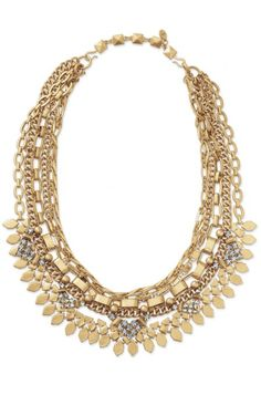 Keep your options open with this chain layered necklace. Long or short, the Gold Sutton Necklace from Stella & Dot is the statement necklace for any outfit.