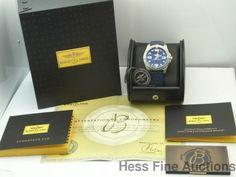 Genuine Breitling Aerospace Evo Blue Diver Chronometer Watch Box Papers #Breitling