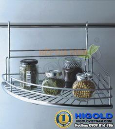 Kệ góc Inox treo ngoài Higold - 402051 Bar Cart, Shelves, Kitchen, Furniture, Home Decor, Shelving, Cuisine, Homemade Home Decor, Bar Carts