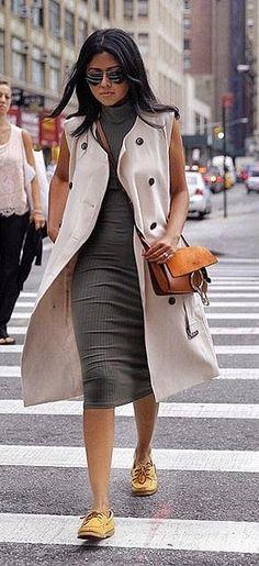 Wear it to work with a longline vest . . .
