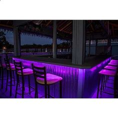 TIKI Bar & Home Bar LED Lighting KIT - Remote Control Light set - #1 BEST Christmas GIFT for home / bar owners - RED & all other colors - 16ft - 300 LED lights total - Tropically Inclined