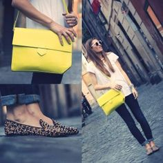 Yellow & Leopard Flats.