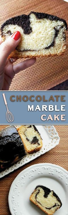 easy moist chocolate marble cake - a really simple EGGLESS cake, super moist and makes for a perfect tea time snack!