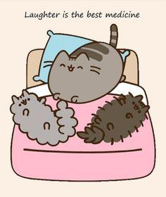 I love kitties 💕💕 Gato Pusheen, Pusheen Love, Cute Animal Drawings, Kawaii Drawings, Pusheen Stormy, Kawaii Doodles, Cute Friends, Cat Drawing, Crazy Cats