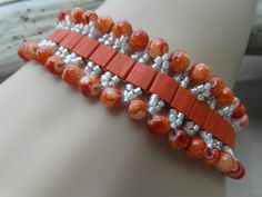 Don't forget the Bridesmaid / Orange / Crystal by JuliesBeadStory
