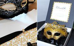 Convite para a tema Baile de máscaras                                                                                                                                                     Mais