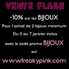 Offre valable dans la boutique en ligne FREAKY PINK.