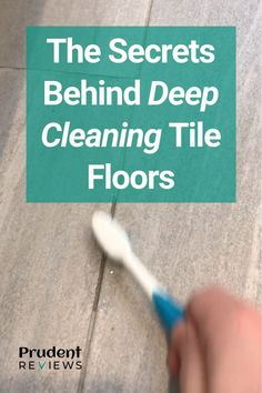 Most people understand how to clean tile floors, but few know how to really give them a deep cleaning. Here the secrets behind achieving a pristine tile floor.
