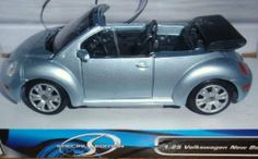 Maisto Volkswagen New Beetle Cabriolet Silver Convertible 1:24 Scale Diecast Metal with Plastic Parts by Maisto. $25.00. Cars, Collectible, Maisto, Toy, Model, Volkswagen