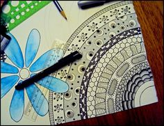 zentangle and water color...