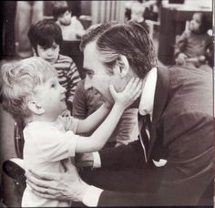 Sweet.....Mr.Rogers and one of his fans....