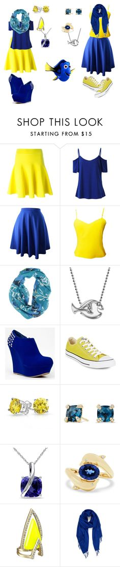 """""""dory"""" by pineapplesyay ❤ liked on Polyvore featuring Versus, Disney, Alex Woo, Bamboo, Converse, Bling Jewelry, David Yurman, Miadora, Effy Jewelry and Alexis Bittar"""