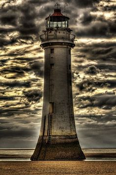 A beached lighthouse. Oceans go away and they start to serve a differnet purpose.