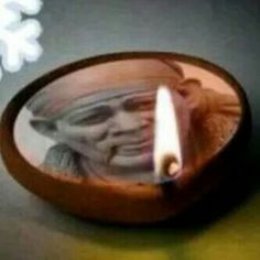 Deepak Sai Baba Hd Wallpaper, Sai Baba Wallpapers, Sai Baba Pictures, Sai Baba Photos, Sathya Sai Baba, Om Sai Ram, Candle Sconces, Incense, Decorative Plates