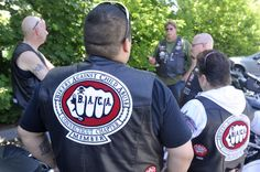 The Connecticut chapter of Bikers Against Child Abuse (BACA) get a briefing before heading out on a Child Protection mission.