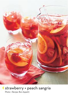 strawberry-peach sangria   Perfect for girls night!