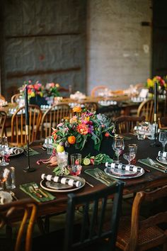 Please and Thank You dinner party | Photo by Joielala | Florals by Siren Floral Co | 100 Layer Cake