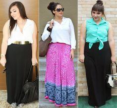 Look saia longa Plus Size!