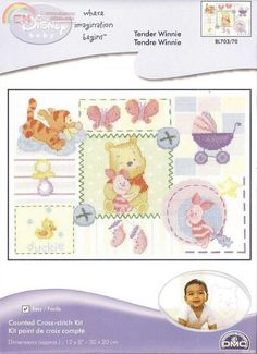 Winnie the Pooh cross stitch chart for baby's room