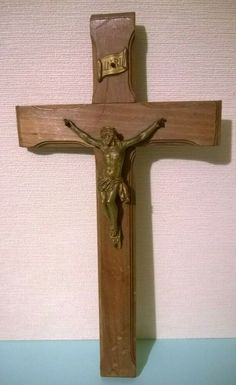 Vintage French Wooden Wall Crucifix Jesus Cross Religious Christianity Ref: 757 Jesus On The Cross, Crucifix, Wooden Walls, French Vintage, Christianity, Ebay, Art, Wood Walls, Art Background