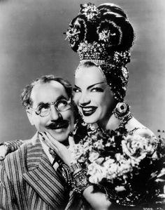 Groucho Marx e Carmen Miranda