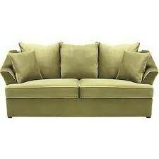 Apple green sofa