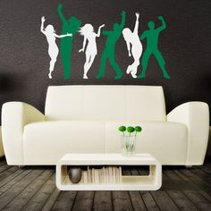 Dancing People Wall Decal Vinyl Art Sticker Kids by DecalHouse