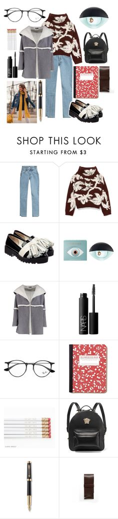 """""""What wear to school? 👓"""" by wipsy ❤ liked on Polyvore featuring Vetements, Brunello Cucinelli, Anouki, Kenzo, MELLOW YELLOW, Boohoo, NARS Cosmetics, Ray-Ban, Versace and Parker"""