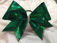 Kelly Green Cheer Bow by BrendasCheerBows on Etsy