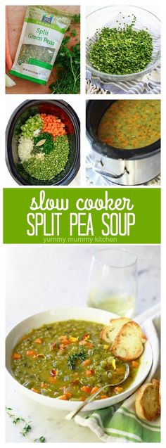 Delicious and comforting vegetarian split pea soup. This easy slow cooker split pea soup takes just 10 minutes to prepare! Try it the next ...