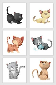 Kawaii Doodles, Kawaii Art, Kitten Cartoon, Cute Cartoon, Logo Gato, Kitten Drawing, Cute Cat Illustration, Cat Icon, Cat Pose