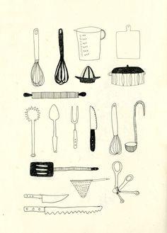 Some kitchen equipment.