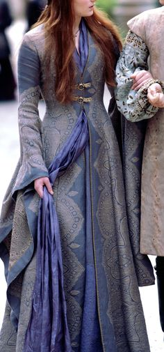 Custom Made Sansa Stark Purple Dress Digital PDF by CurvyCosplay: If I could have this custom made for me in white, I would be very happy.