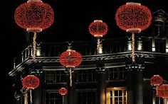 when is chinese new year 2017 year of the rooster red lanterns street decorations