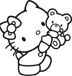 Free Printable Hello Kitty Coloring Pages Party Invitations Activity Sheets And Paper Crafts