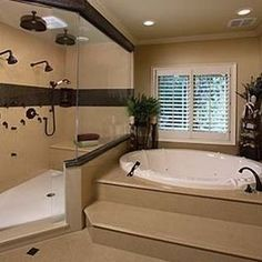 2 Person Shower with separate bathtub- love this there is never enough room in the shower for 2!!
