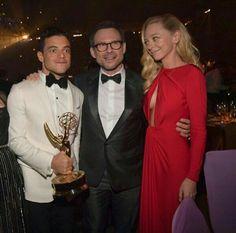 Rami Malek, Christian slater & portia Doubleday in Emmy's award