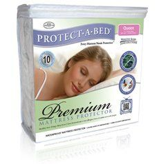 Protect-A-Bed Premium Mattress Protector Mattress Size Cal King by Gotcha Covered. $89.99. Features Miracle Membrane, provides a barrier to dust mites, allergens and irritants. Protects mattresses from stains (accidental spills, perspiration, bodily fluids). A must for families with children and pets! Mattress protector goes on like a fitted sheet.. Available in common mattress sizes fits Cal King (72x84 inch). Made of soft cotton terry backed with a breathable polyuretha...